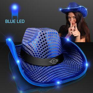 cowboy hat_LED brim with logo