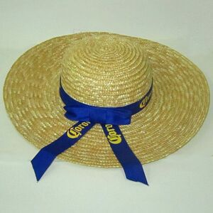 straw hat_classic ladies with ribbon