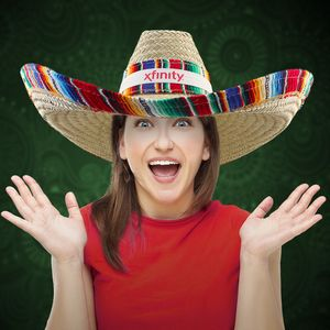 straw hat_sombrero branded