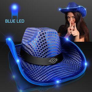 cowboy hat_LED brim with logo